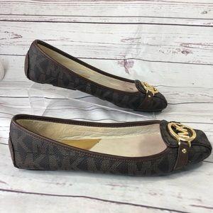 Micheal Kors flat ballet slipper shoes woman's 9.5
